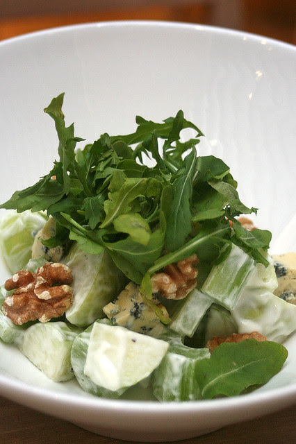 Waldorf Salad - crunchy green apple, arugula, walnuts and blue cheese