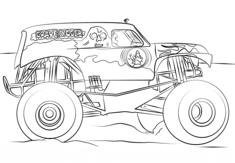 5800 Coloring Book Pages Of Monster Trucks Free