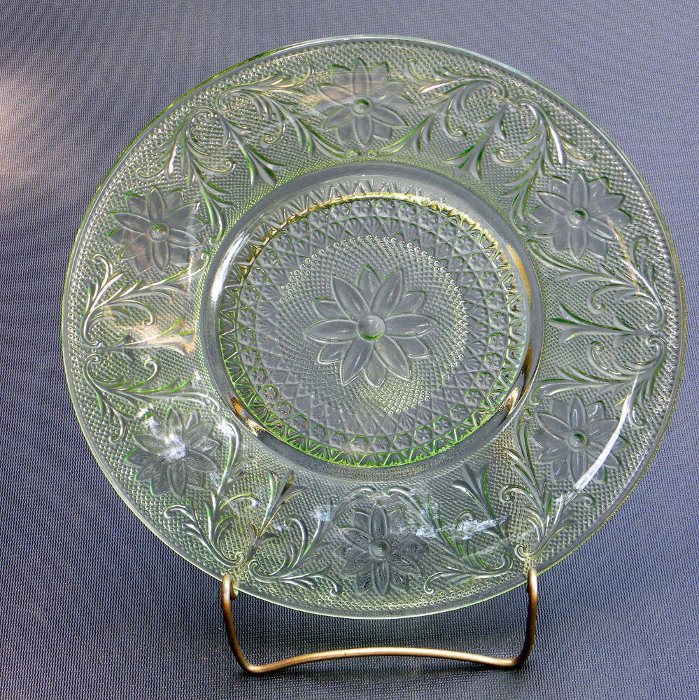 SANDWICH PATTERN by INDIANA GLASS GREEN DEPRESSION GLASS ...