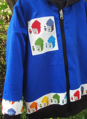 lego hoodie v2 blue side detail