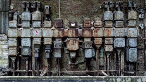 Cityscapes machinery abandoned factory wallpaper