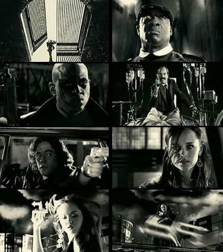 SIN CITY full theatrical trailer screenshots.