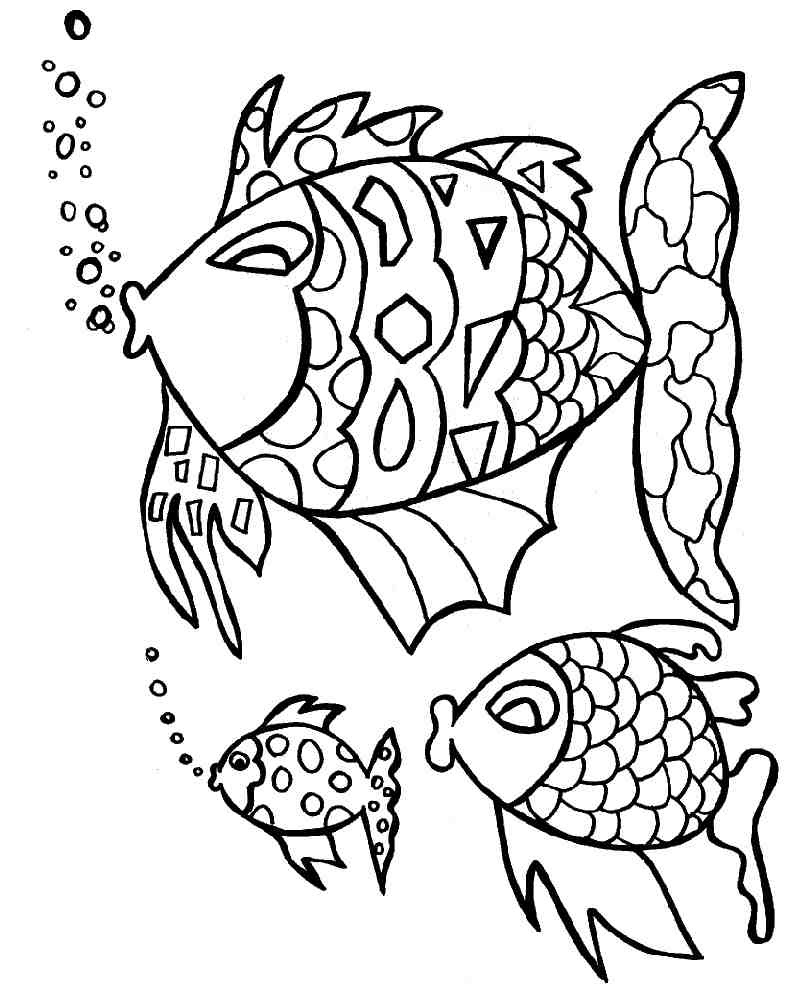 Coloriage de poissons exotiques