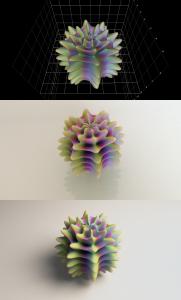 Alien Egg Comparison (Functy, 3D print, Blender; click to enlarge)