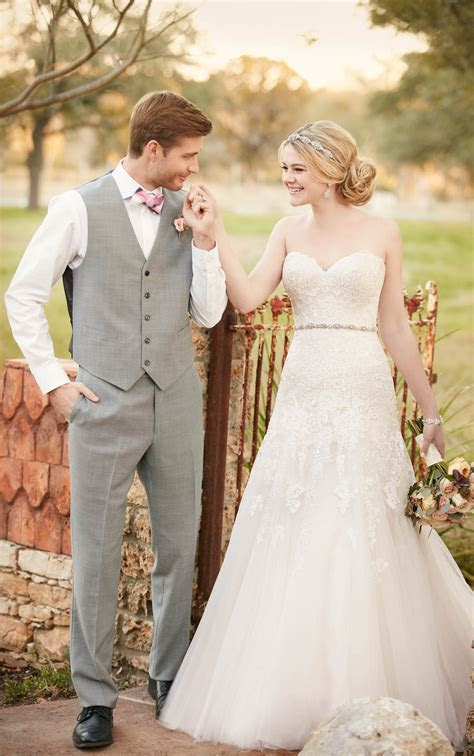 Strapless A Line Wedding Dress   Essense of Australia