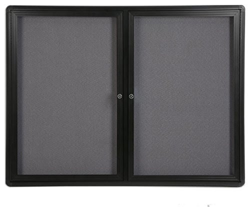 Displays2go 4 X 3 Feet Enclosed Bulletin Board With 2 Swing Open