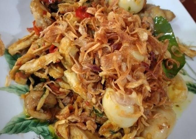 Resep Praktis Ayam suwir dan telur puyuh sambal kemangi Paling Mudah