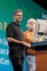 """Sven Reimer and James Gosling, General Session """"The Toy Show"""" on June 5, JavaOne 2009 San Francisco"""