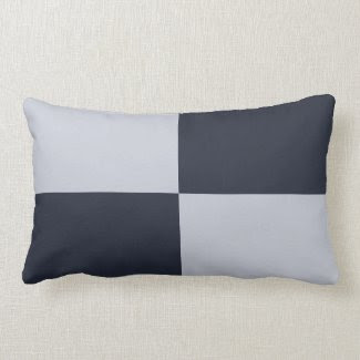 Navy and Grey Rectangles throwpillow