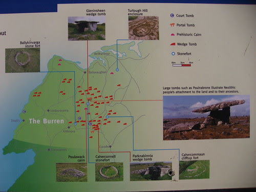 The Burren features map