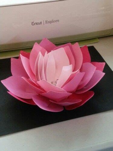 #imadeit #cricut Giant Lotus Flower Cricut   My cards and
