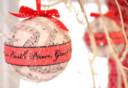 Music Sphere Christmas Ornament