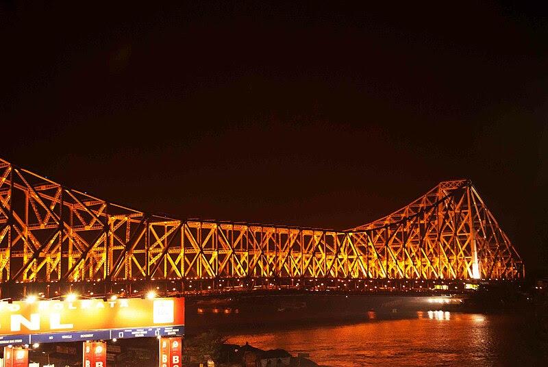 File:Howrah Bridge at night.jpg