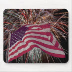 American Flag and Firework mousepad