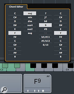 The Chord Editor offers you some additional, more sophisticated chord options.