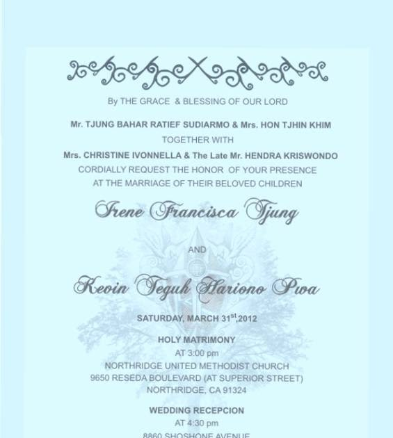 Wedding Invitation Wording: Wedding Invitation Wordings