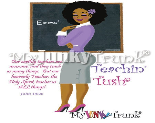 Teachin' Tush African American Afo Natural Hair Teacher--Print