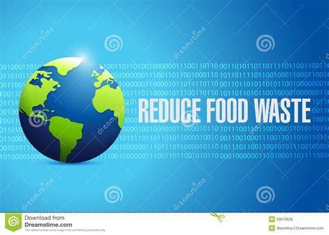 Reduce Food Waste International Globe Sign Concept Stock