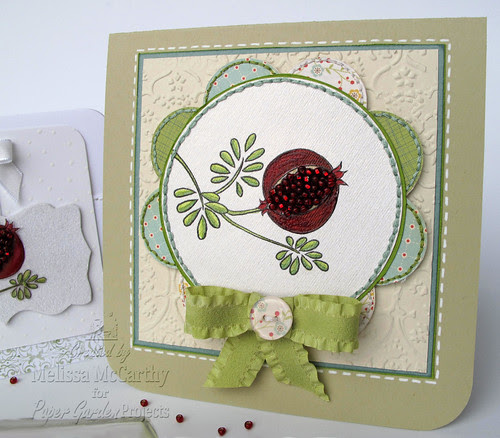 Paper Garden Projects pomegranite card mel stampz