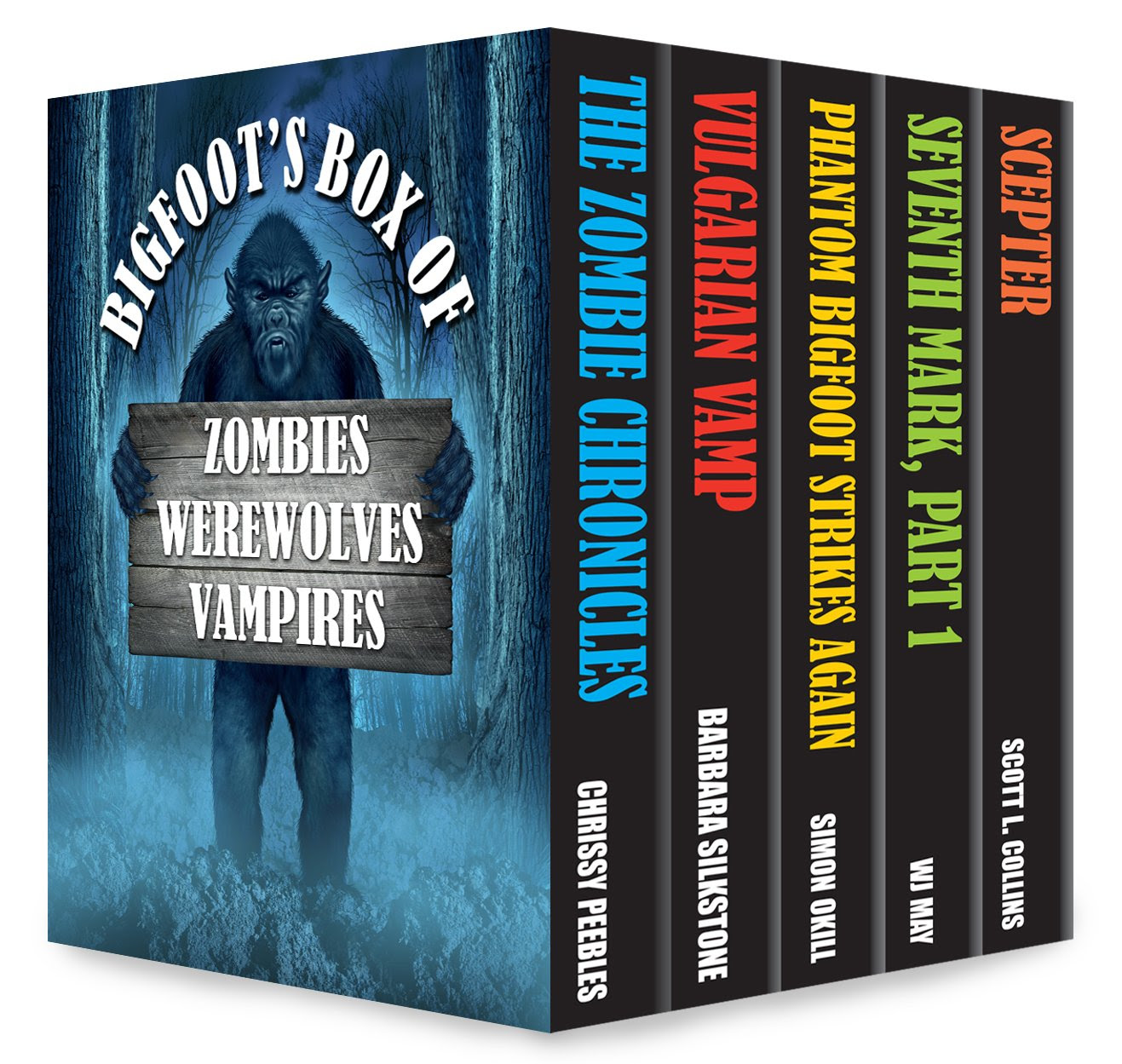 Bigfoot's box of zombies, werewolves and vampires