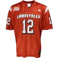 adidas Louisville Cardinals #12 Red Replica Football Jersey