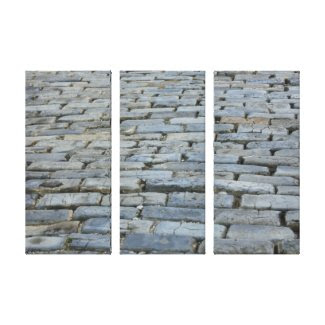 Cobblestone Street Wrapped Canvas wrappedcanvas