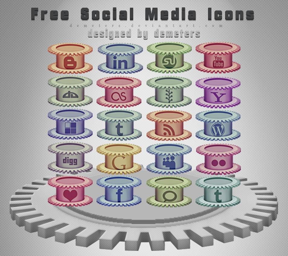 20 Free Social Media Icons