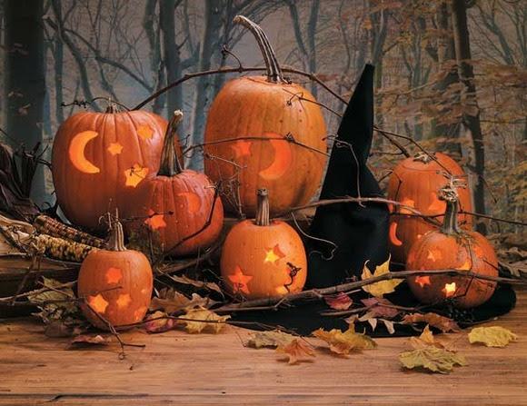 Decoración de una calabaza de halloween