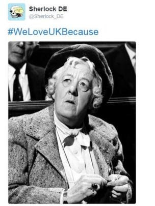 Tweet of actress Margaret Rutherford