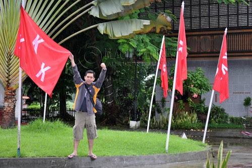KKK flags