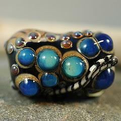 blue between bead