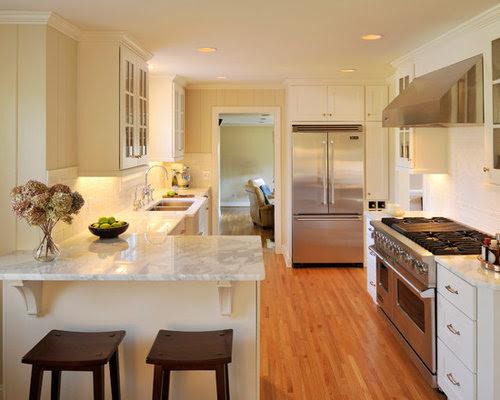 Small Kitchen Peninsula Home Design Ideas, Pictures ...