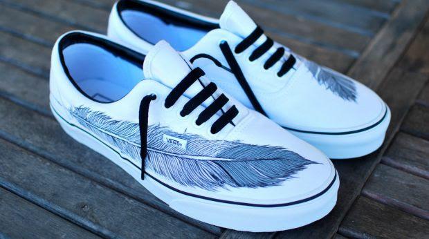 b street shoes custom painted sneakers