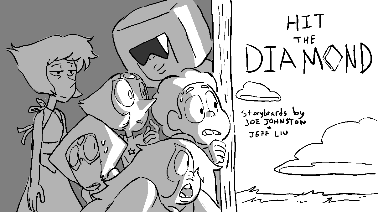 Hey! It's a new episode of Steven Universe!! Hit the Diamond, with storyboards by Joe Johnston and Jeff Liu. Airing in the US on 6/2/16 on Cartoon Network tonight at 7:00!! Hope you enjoy it!