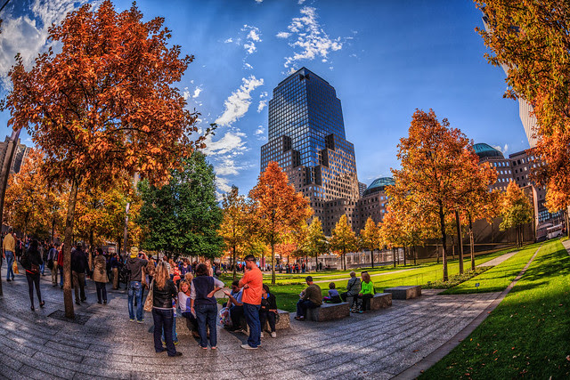 Fall Foliage at the 9/11 Memorial