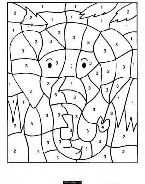 Dibujos Para Colorear Con Numeros