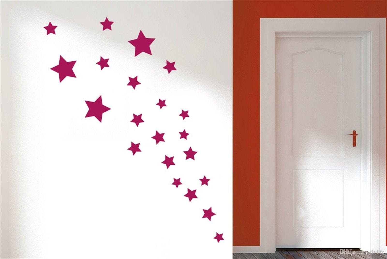 Removable Various Color Stars Decorative Wall Stickers Vinyl Wall