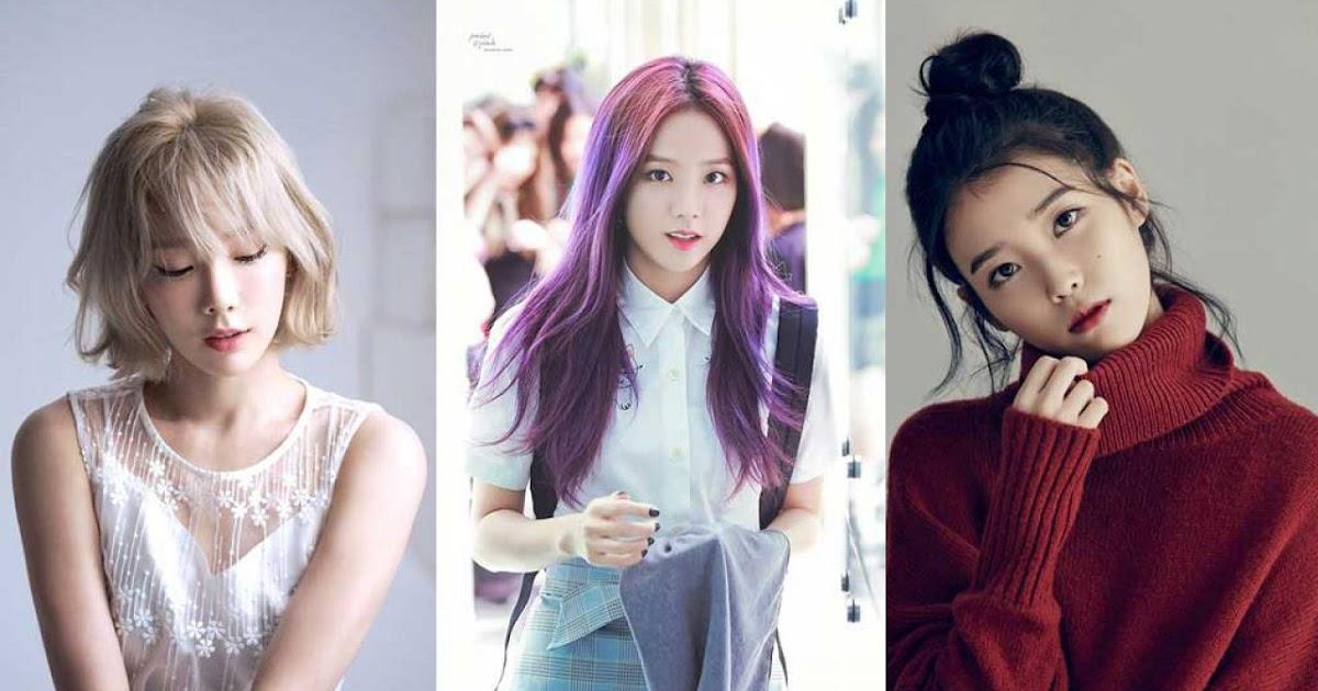 Gaya Rambut Wanita Korea Terkini - foto candid kekinian