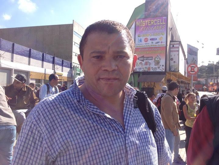 Reginaldo presenciou a confusão na estação Francisco Morato