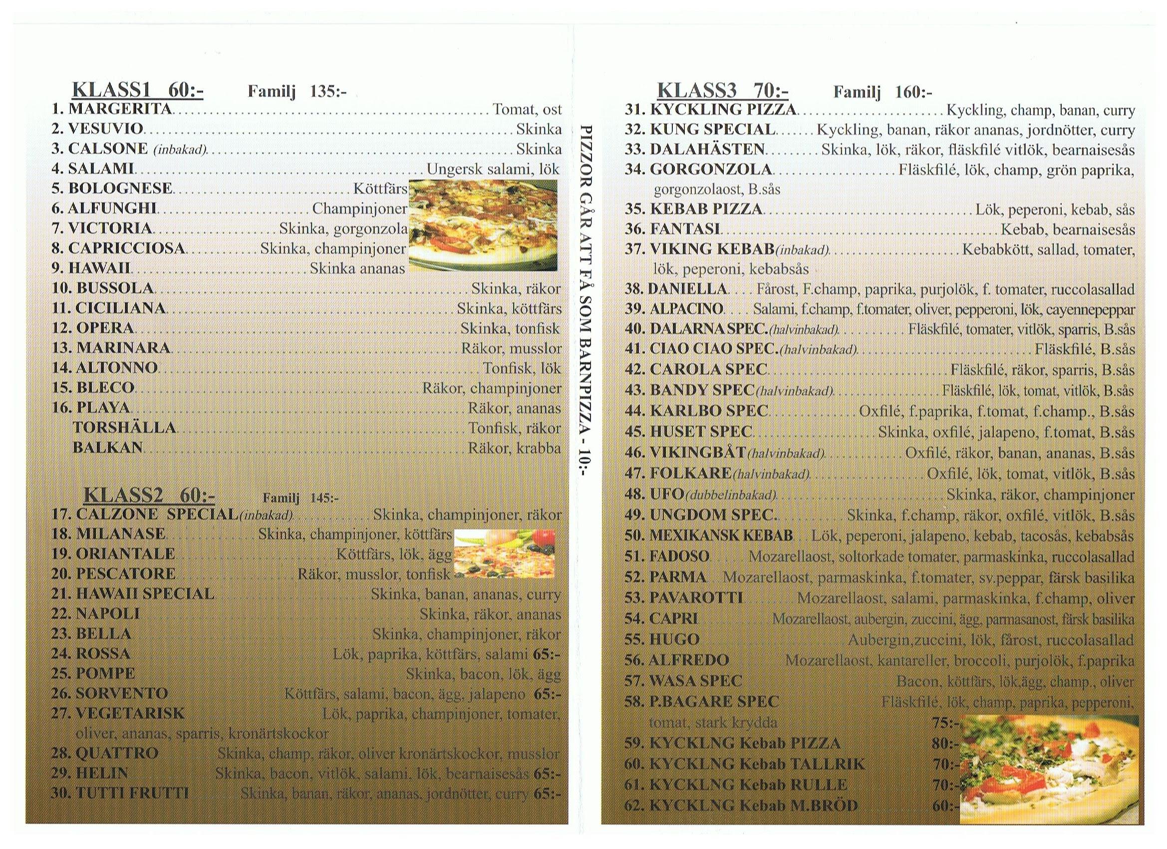 roma pizzeria avesta meny