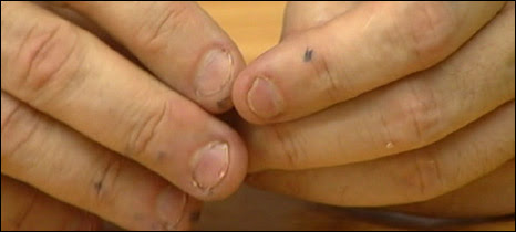 Gordon Brown's hands