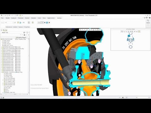 PTC Creo Parametric in Action - PTC 3D CAD software used by BMW & big companies