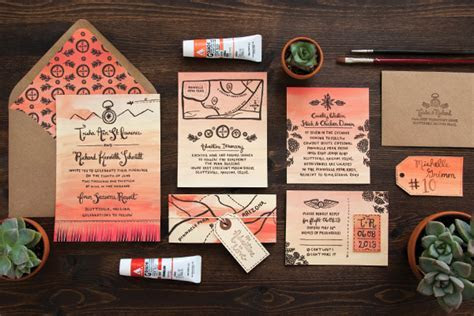 Trisha   Richard's Arizona Sunset Wedding Invitations