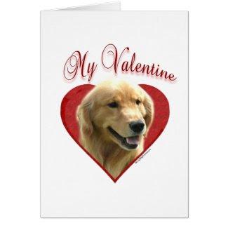 Golden Retriever My Valentine Greeting Card