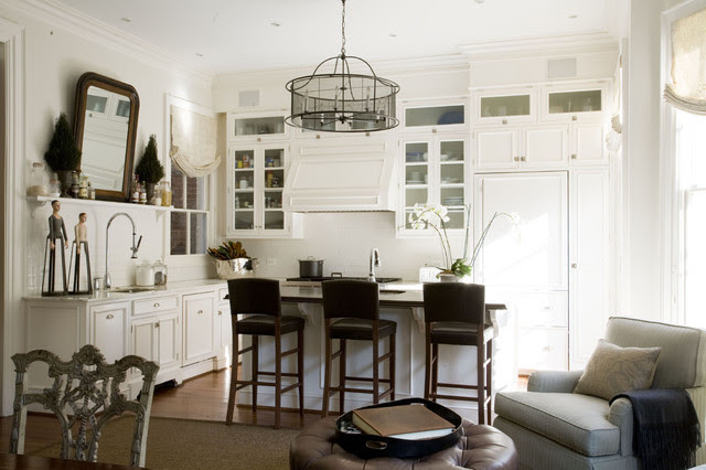 A smart combination of living, dining and kitchen spaces creates a ...