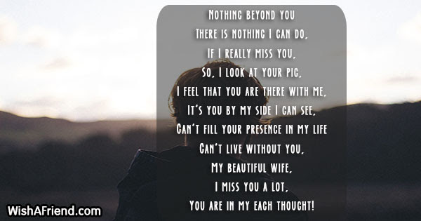 Nothing Beyond You Missing You Poem For Wife