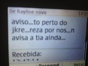 Mensagem 2 desaparecida (Foto: Luana Leão/G1)
