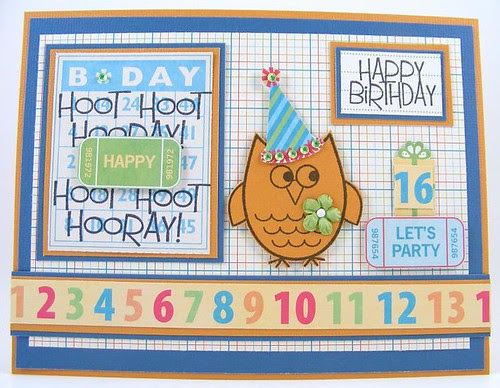 SOL September Birthday Owl Card