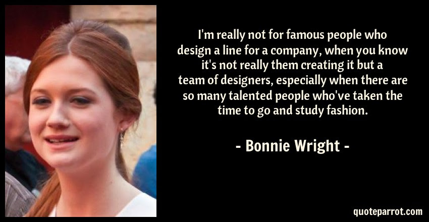 Im Really Not For Famous People Who Design A Line For By Bonnie