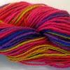 Rainbow handspun cotton - closeup